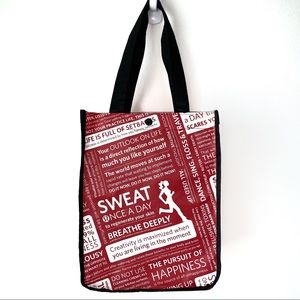 Lululemon shopping bag classic red with quotes